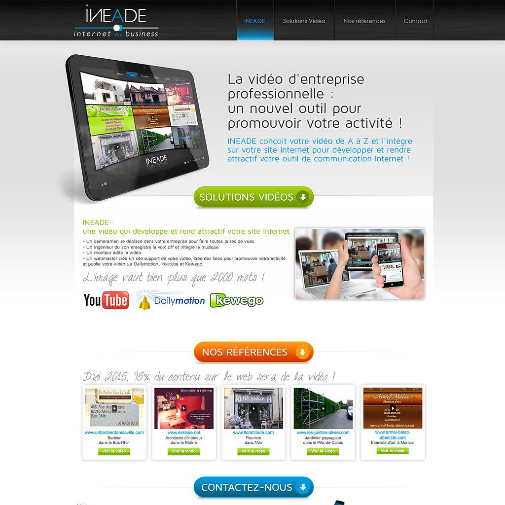 Site Internet www.ineade-tv.com (hors ligne)