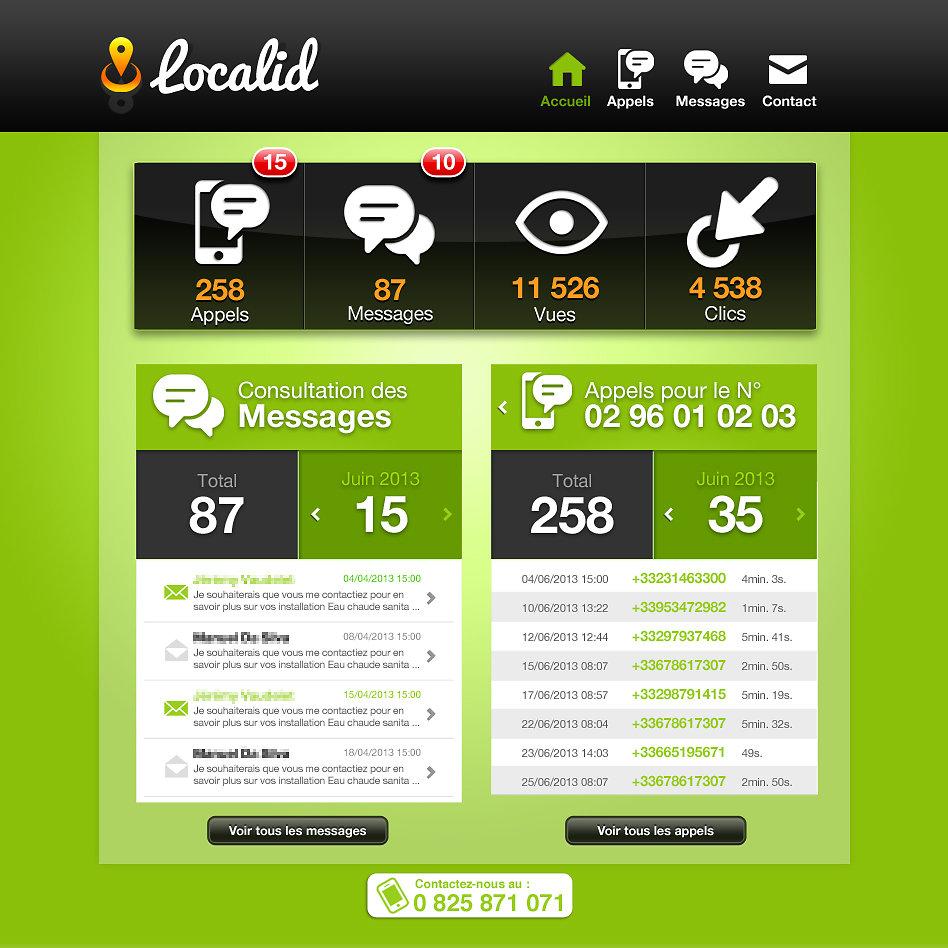Outil de suivi en ligne Localid